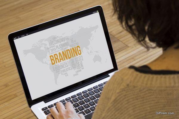 woman computer branding