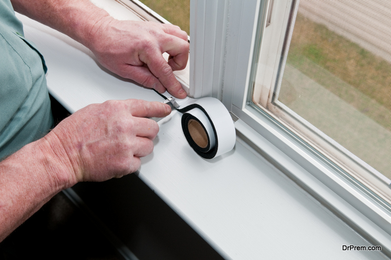 Caulk Drafty Windows