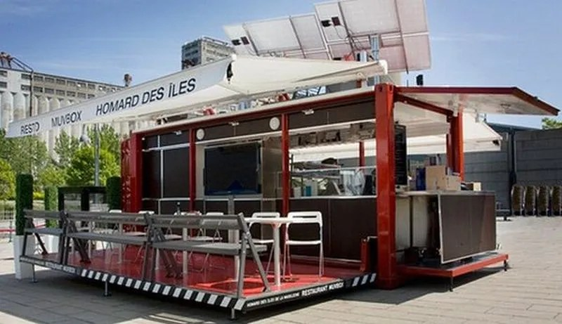 Muvbox shipping container restaurant