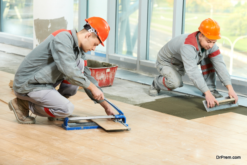 Install Ceramic Tile Floor