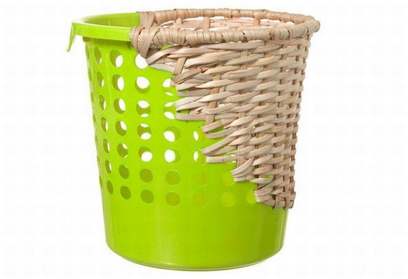 Reused plastic recycle bins