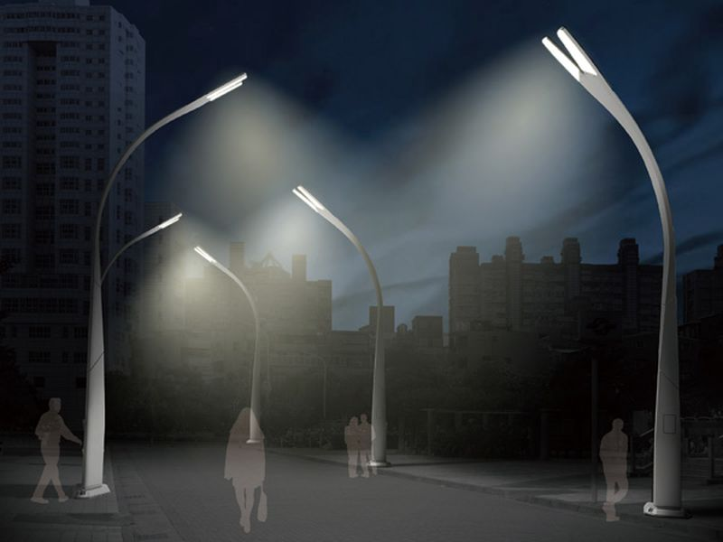 Solar streetlights with dustbins