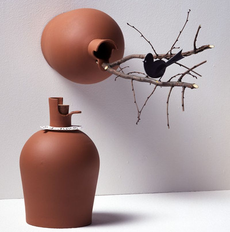 Apple Juice Bottle Birdhouse by Marcel Wanders