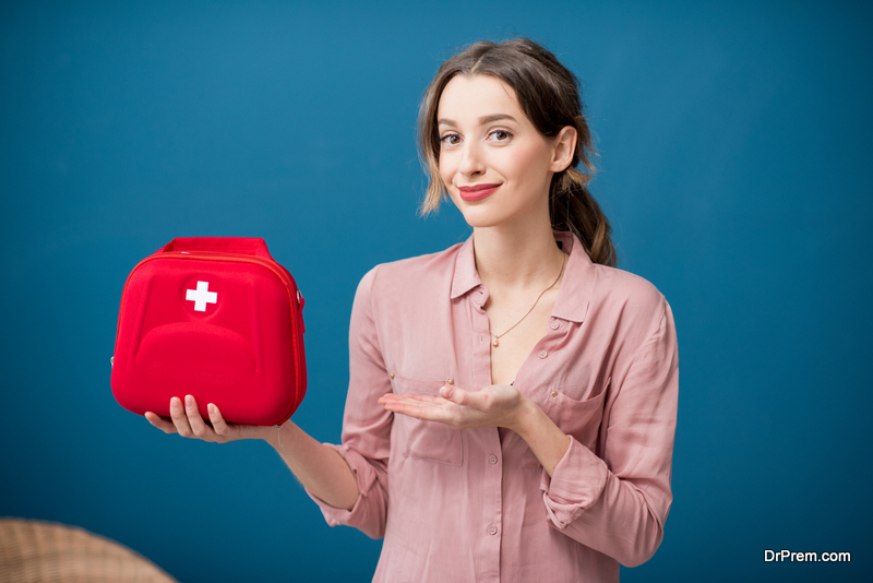 Bringing a first aid kit