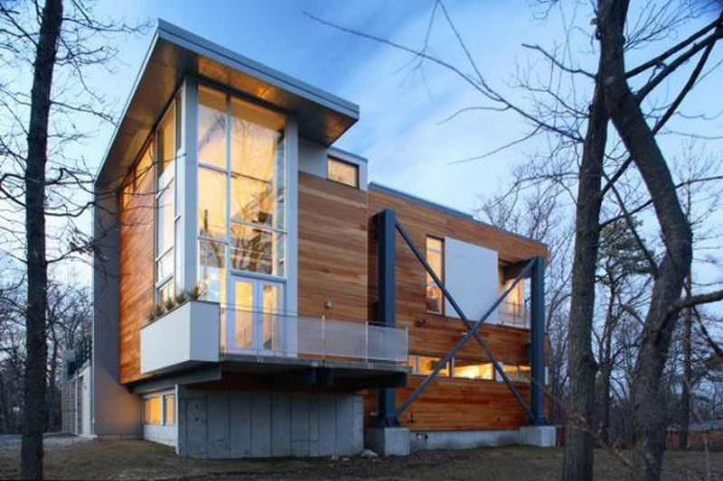 Eco-friendly homes made from recycled materials