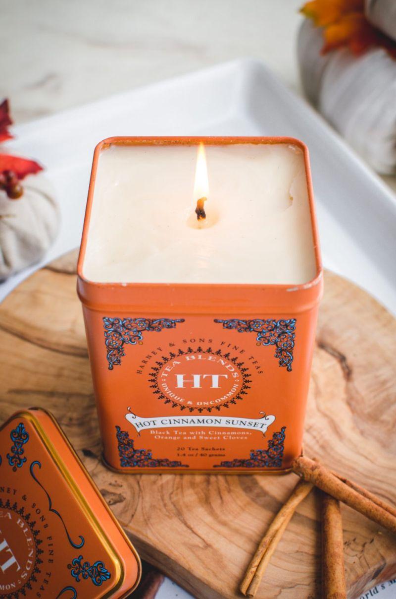 diy Candle Holder using tea tins