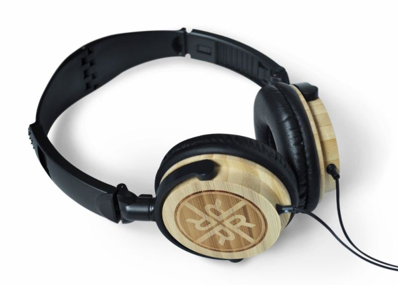 REVEAL DJ Bamboo Noise Isolation Headphones