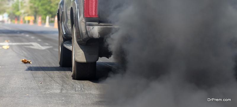 carbon monoxide due to cars