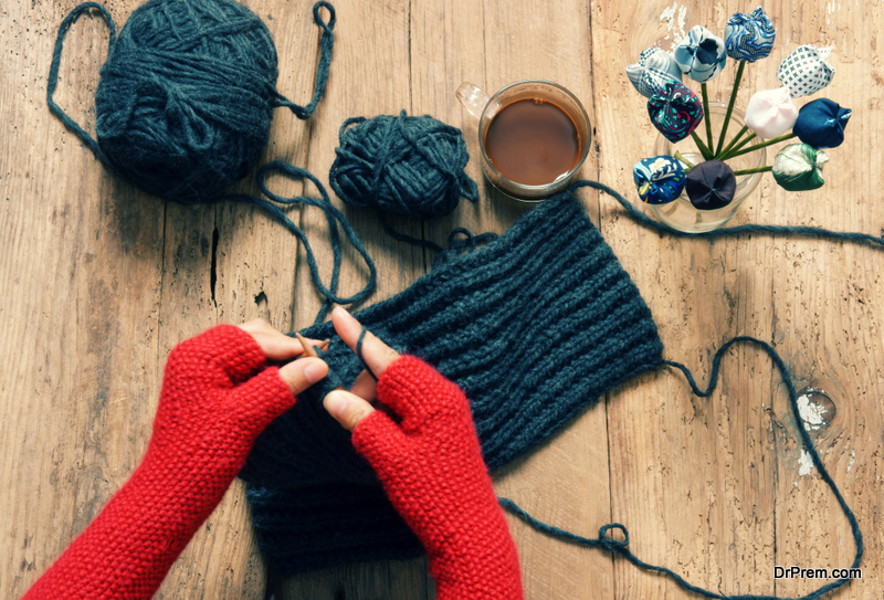 Make mittens out of an old sweater