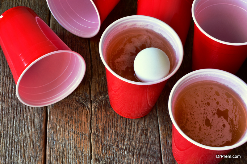 avoid waste when you play beer pong games