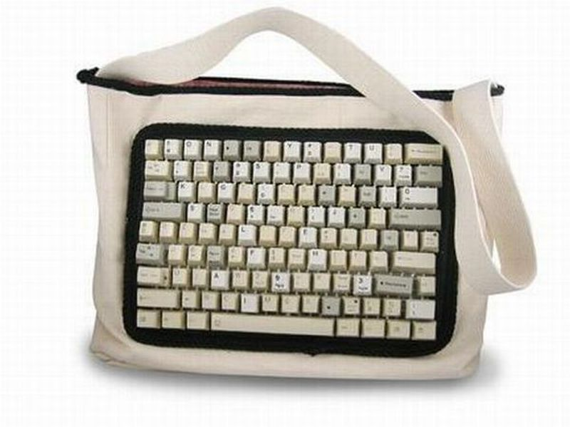 Computer keyboard tote bag