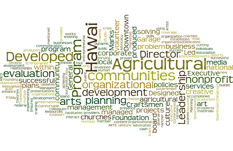 kci Summary of Qualifications wordle