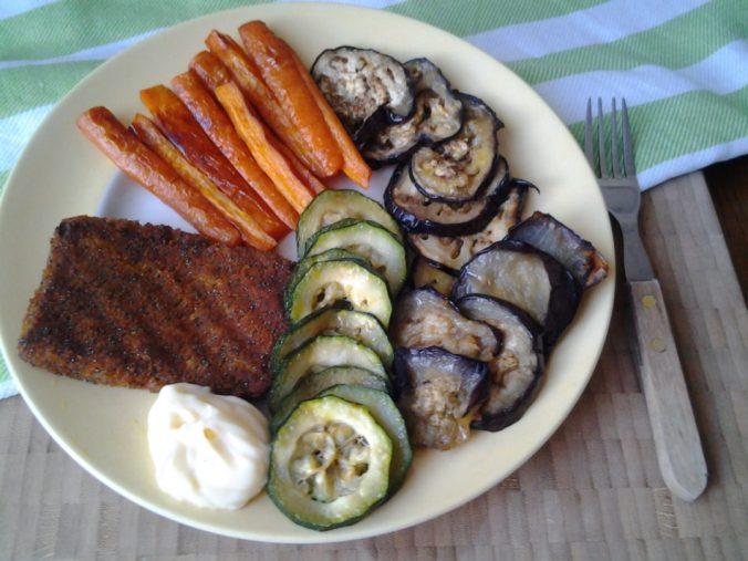 Gegrilde groente met Bermuda burger