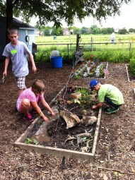 We can't get these campers away from the Dinosaur garden this week!