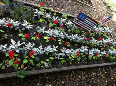 Happy 4th of July from the Children's Garden. Flag garden sponsored by the Marston Family.