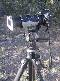DSLR camera with eclipse filter