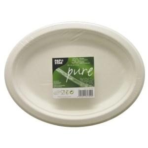 Sugarcane plates 260x200mm, oval (50 pcs.)