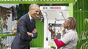 Obama at solar expo