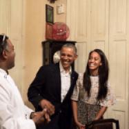 Malia Obama translates for her father