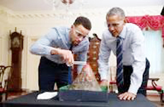 Steph Curry and Barack Obama