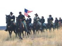 Buffalo Soldiers on horseback