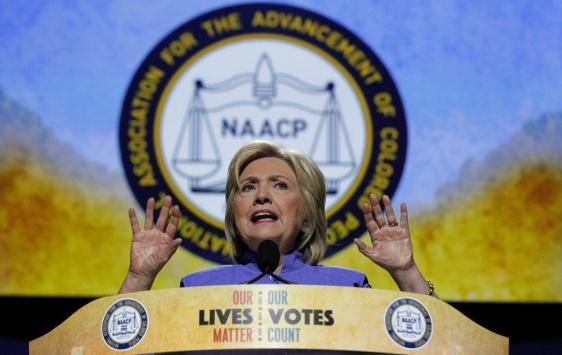 Hillary Clinton addresses NAACP