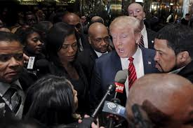 Donald Trump with Black voters