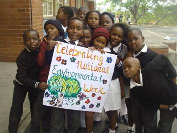 South African school childfren for Environment Day