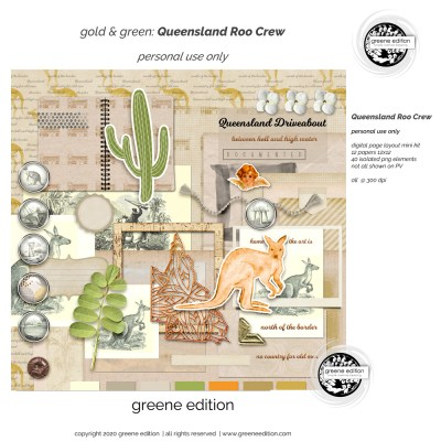 gold&green Roo Crew Layout Kit