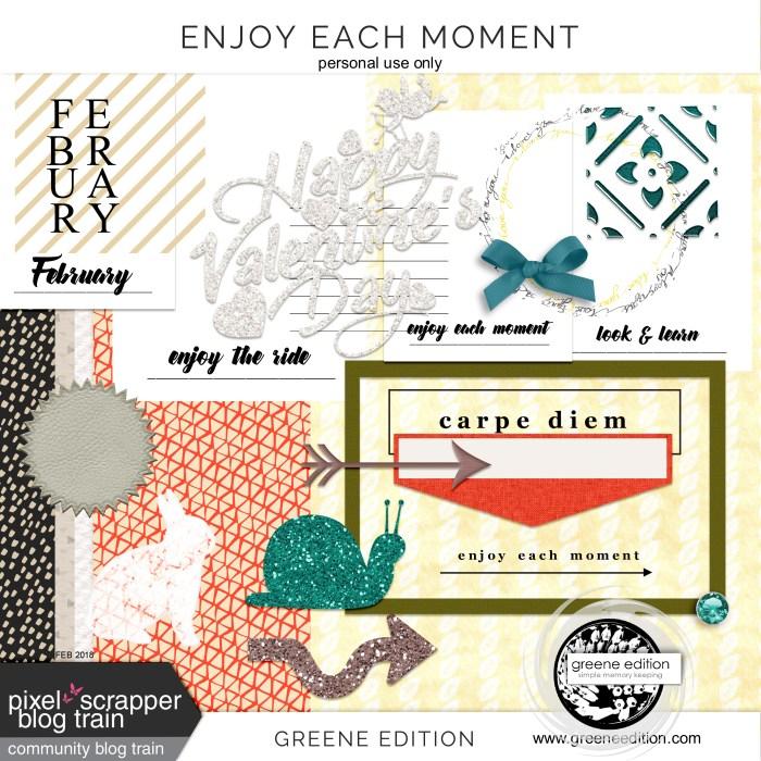 greene edition - enjoy each moment - scrapbooking freebie- Enjoy Each Moment Free Scrapbooking Kit