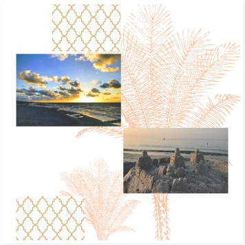 Layout by Bina Greene with Palm Tree Templates and Cozy Kitchen