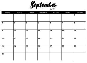 greeneEdition-October2018 Calendar