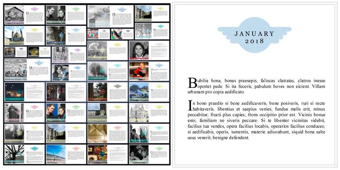 6x6 Album Project 31 Days Of January - greene edition - copyright 2018