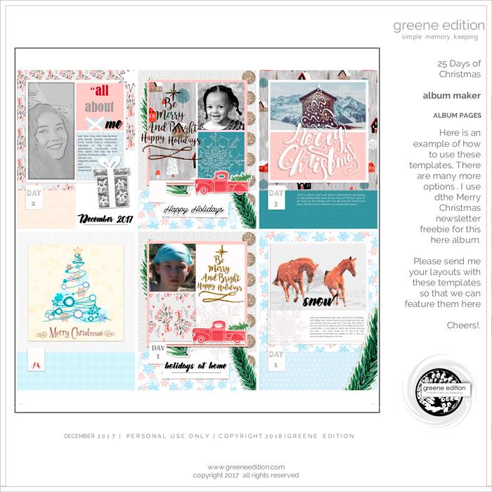 greene edition, 6x8 inches album maker, album pages