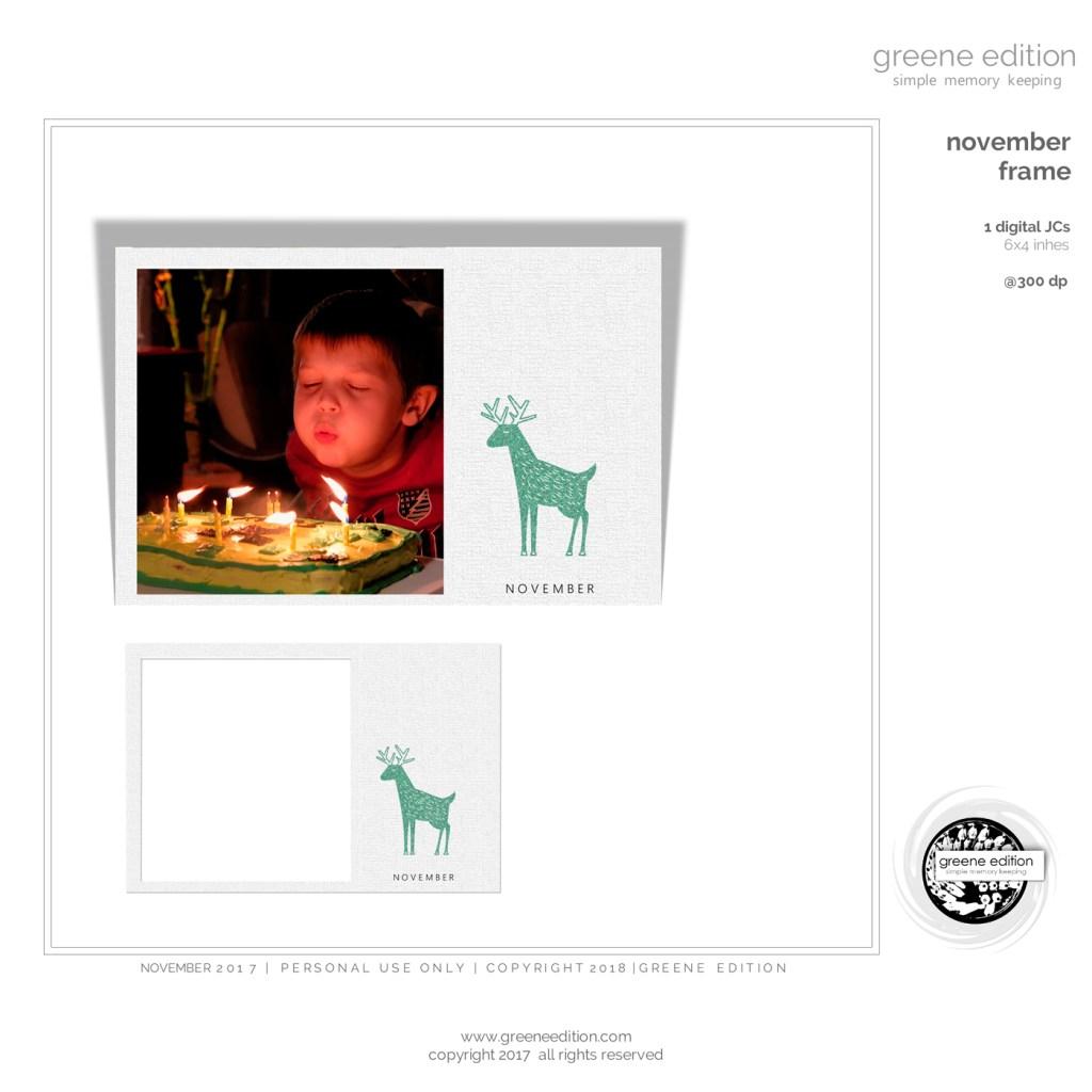 freebie november frame greene edition diital scrapbooking freebie