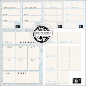"""greene edition - 6x8"""" Planner Page Templates"""