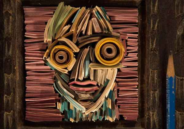 Recycle paper art