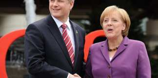 Stephen Harper Angela Merkel