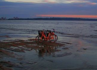cycling out to sea