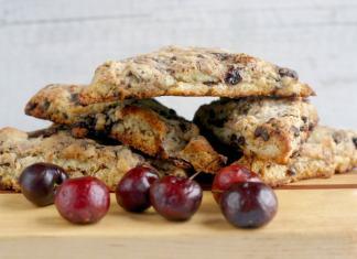 cherry chocolate scones