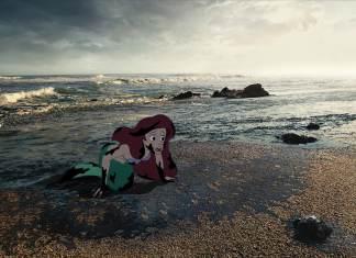 little mermaid in oil spill