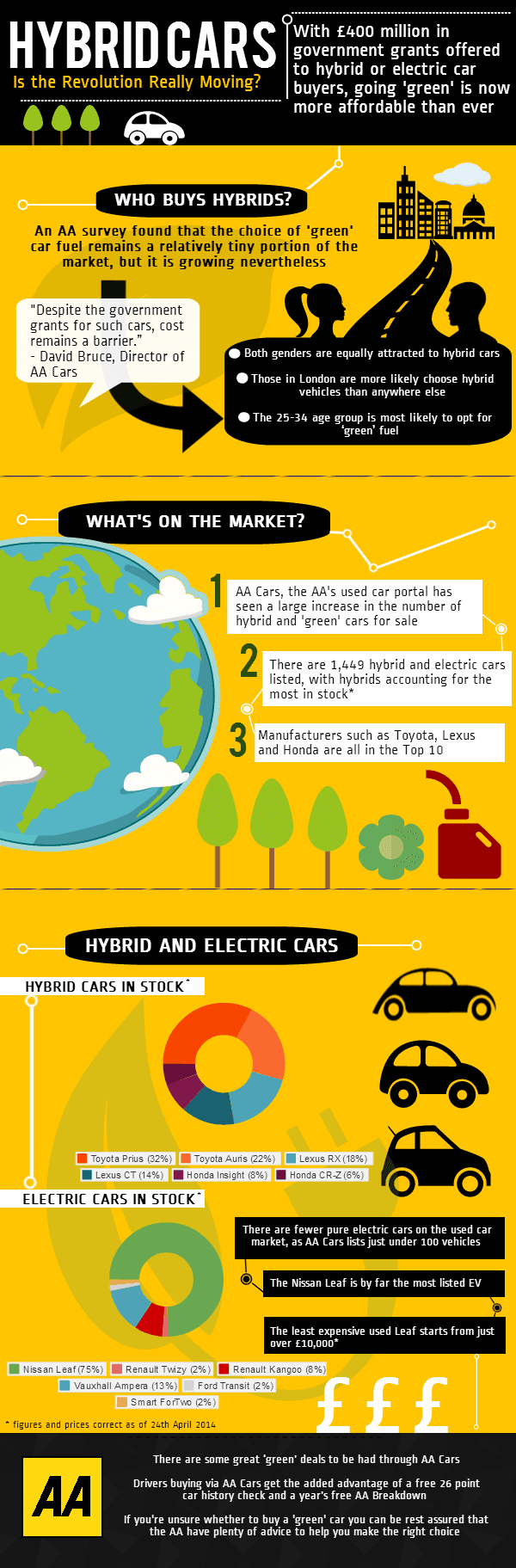 green car buying infographic