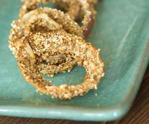 Skinny onion rings