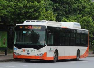 BYD k9 Electric Bus in Guangzhou, China