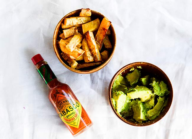 Swede (Rutabaga) Chips & Guacamole