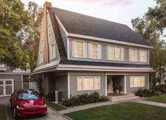discreet solar shingles on roof