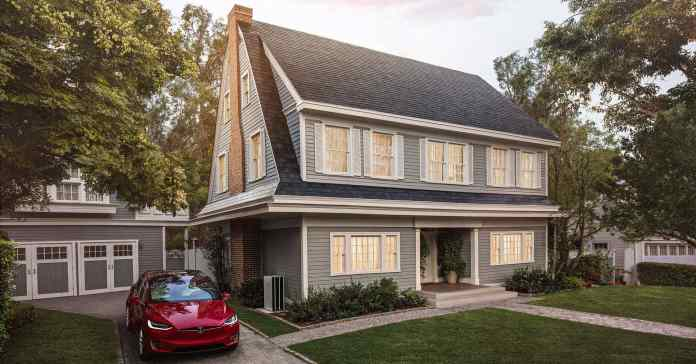 discreet solar shingles on roof