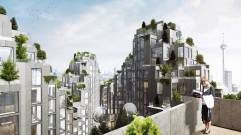 Bjarke Ingels sustainable architecture project with green rooftops in Toronto