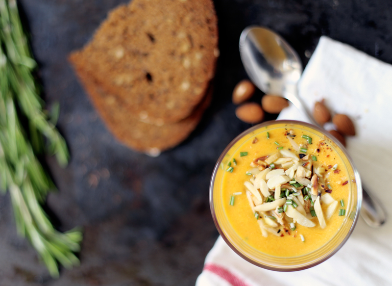 Creamy Carrot Soup with Coconut Milk and Peanut Butter