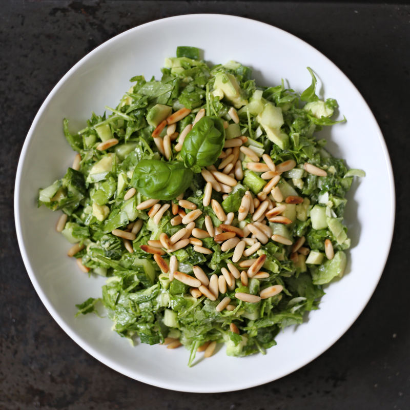 Simple Green Chopped Salad